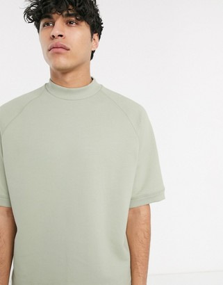 ASOS short sleeve sweatshirt with toggle detail
