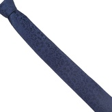 Black Tie Navy Baroque Pattern Tie