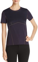 DKNY Contrast Stitch Crewneck Top