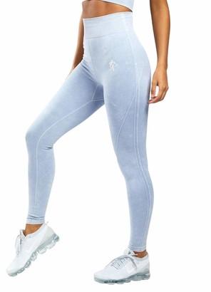 Gym King Women's Sports Aura Leggings Fitness Gym Running Pants Fashion Style WLG-B23PW New (12-14 / Waist 70-76 cm)