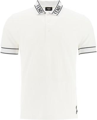 Fendi Logo Collar Polo Shirt