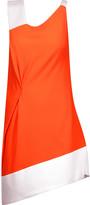 Roland Mouret Anser two-tone wool-crepe mini dress