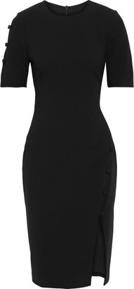 Black Halo Joanna Button-detailed Cady Dress