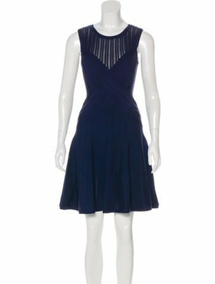 Herve Leger Kristen Bandage Dress Navy