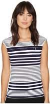 Calvin Klein All Over Print Zipper Top Women's Clothing