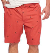 Izod Saltwater Beachtown Flat Front Printed Strech Short Big and Tall