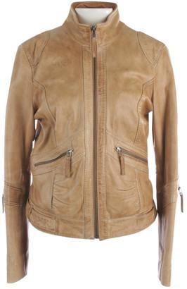 Oakwood Beige Leather Leather jackets