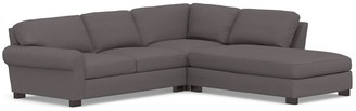 Pottery Barn Turner Roll ArmUpholstered 3-Piece Bumper Sectional