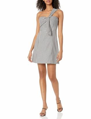 Sam Edelman Women's one Shoulder Gingham Dress