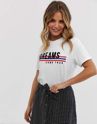 Pieces dreams t-shirt-White