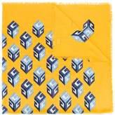 Gucci wallpaper print shawl