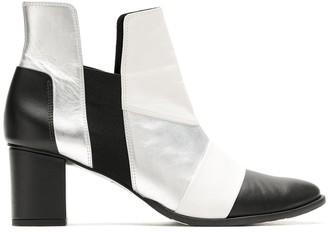 Gloria Coelho metallic leather boots