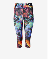 Express bright abstract EXP core compression crop legging