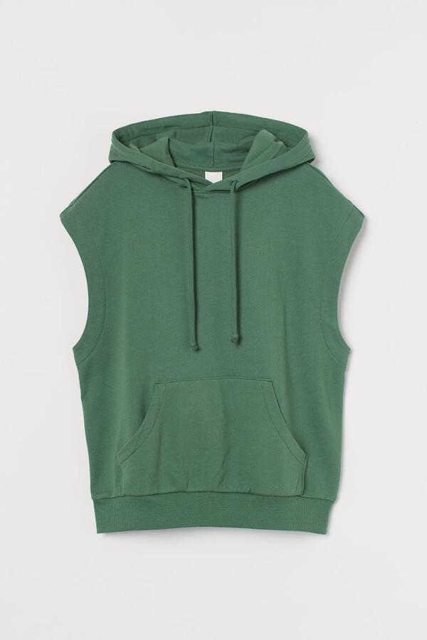 H&M Sleeveless Hoodie - Green