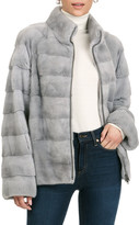 Gorski Horizontal Mink Fur Zip-Front Jacket