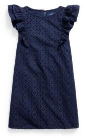 Polo Ralph Lauren Little Girls Ruffled Eyelet Dress