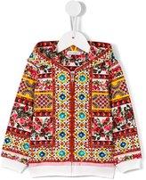 Dolce & Gabbana Carretto Con Rose hoodie - kids - Cotton/Spandex/Elastane - 6-9 mth