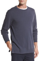 Vince Side-Zip Crewneck Sweater