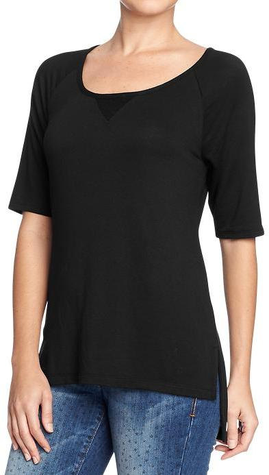 Old Navy Women's Terry Drop-Hem Raglan Tees