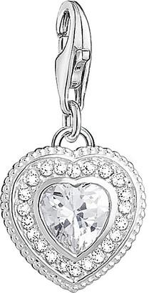Thomas Sabo Charm Club sterling silver zirconia stone vintage heart charm