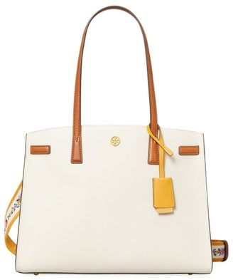 Tory Burch Walker Colorblock Leather Satchel