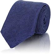 Barneys New York Men's Floral Jacquard Necktie-NAVY