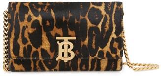 Burberry Small Leopard Print Shoulder Bag