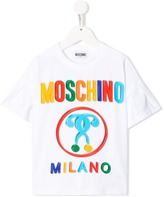 MOSCHINO BAMBINO TEEN logo print T-shirt