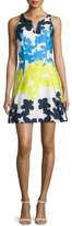 Milly Floral-Print Fit-&-Flare Dress, Multi Colors