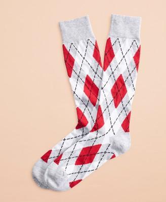 Brooks Brothers Argyle Stretch-Cotton Knee Socks