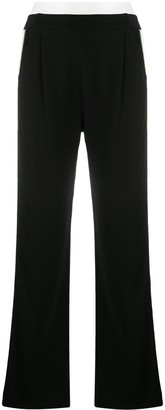 Karl Lagerfeld Paris Logo Stripe Track Trousers