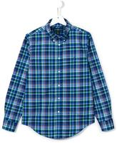 Ralph Lauren plaid button down shirt - kids - Cotton - 14 yrs