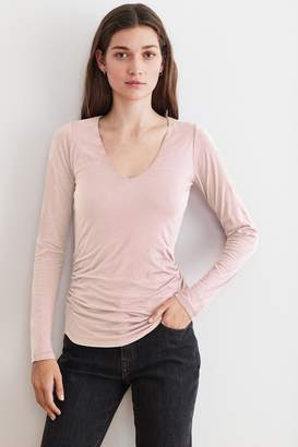 Velvet by Graham & Spencer Velvet By Graham Spencer Selena Gauzy Whisper Long Sleeve Tee