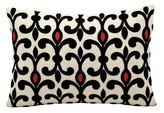 "Nourison Mae West Throw Pillow Black & Ivory (14""x20"") - Mina Victory"