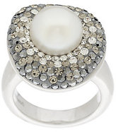 Honora As Is Cultured Pearl 10.0mm & Crystal Sterling Ring