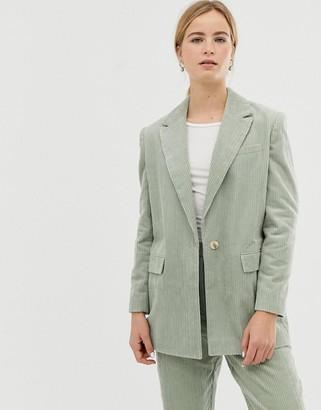 Asos Design DESIGN sage cord tailored suit blazer-Green