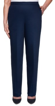Alfred Dunner Petite Easy Street Sateen Pull-On Pants