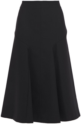 Joseph Gaby Pleated Wool-blend Twill Midi Skirt
