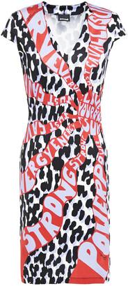 Just Cavalli Printed Ponte Mini Dress