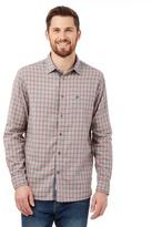 Mantaray Turquoise Checked Long Sleeved Shirt