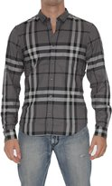 Burberry Men's 3819289 Grey Cotton Shirt