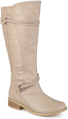 Journee Collection Harley Buckle Tall Boot - Wide Calf