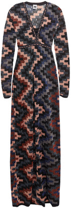 M Missoni Metallic Open-knit Maxi Dress