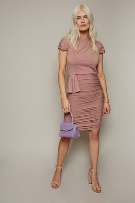 Paper Dolls Irvine Rose Pink Ruched Bodycon Dress