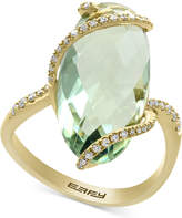 Effy Green Amethyst (7-1/4 ct. t.w.) and Diamond (1/5 ct. t.w.) Ring in 14k Gold