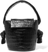 Nancy Gonzalez Crocodile Bucket Bag - Black