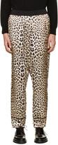 3.1 Phillip Lim Beige Reversible Leopard Trousers