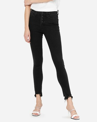 Express Flying Monkey High Waisted Button Fly Skinny Jeans
