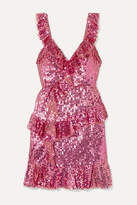 Needle & Thread Scarlett Sequined Tulle Mini Dress