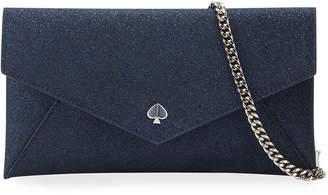 Kate Spade Burgess Court Glitter Envelope Clutch Bag